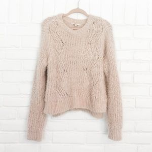 Candie's Perfect Pink Fuzzy Oversized Sweater